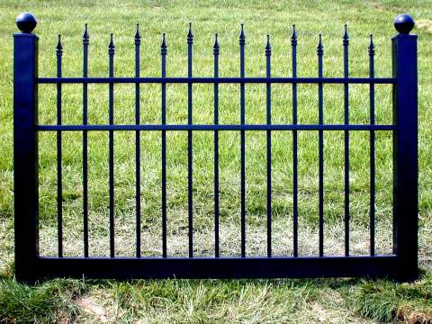 Wholesale Nationwide Supplier Black Vinyl Fences Black