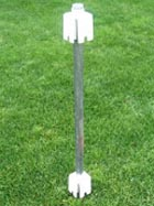 Vinyl Fence Post Mount No Dig System